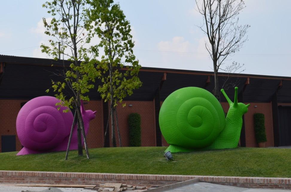 Groene design slak